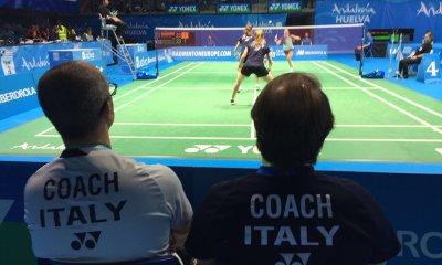 Silvia Garino e Lisa Iversen in gara agli Europei di badminton 2018