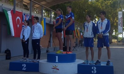 pentathlon europei junior 2018 podio staffetta mista elena micheli roberto micheli bronzo italia italy pentathlon moderno campionato europeo junior 2018 juniores