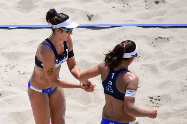 Menegatti-Giombini (Photo Credit: Cev Beach volleyball facebook official page)