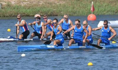 Il C4 italiano vincitore del bronzo (photo credit: pagina ufficiale federazione italiana canoa kayak Facebook)