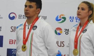 Suppini e Benetti oro ai Mondiali di Changwon (phot credit: uits.it)