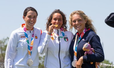 Sofia Tomasoni festeggia la medaglia d'oro ai Giochi Olimpici Giovanili 2018 di Buenos Aires