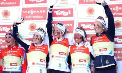 Svezia vince la 4x5 femminile sci nordico