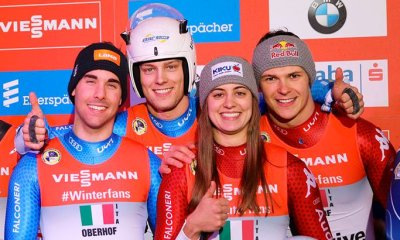 Slittino: la squadra per il Team Relay italiano