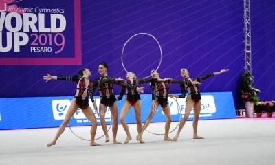 Ginnastica ritmica, Coppa del Mondo: le Farfalle della ginnastica ritmica (in foto) conquistano l'argento nell'all-round e il quarto posto nella classifica generale dell'evento.