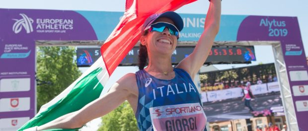 atletica coppa europa di marcia 2019 eleonora giorgi oro 50km italia italy atletica leggera athletics march walk europe cup alytus gold first place primo posto lituania