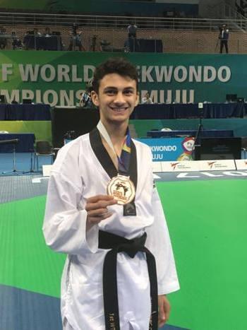 taekwondo mondiali 2019 manchester vito dell'aquila muju 2017 bronzo bronze medal third place terzo posto world championships campionati mondiali