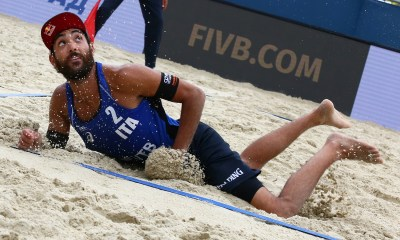Daniele Lupo alla tappa di Mosca, torneo 4 stelle, valido per il Beach Volley World Tour 2019