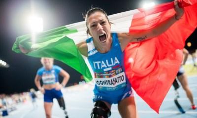 atletica paralimpica mondiali 2019 monica contrafatto argento 100 metri italia italy dubai 2019 atletica leggera paralimpica athletics categoria T63 T42 paralympics campionato del mondo world championships 2019
