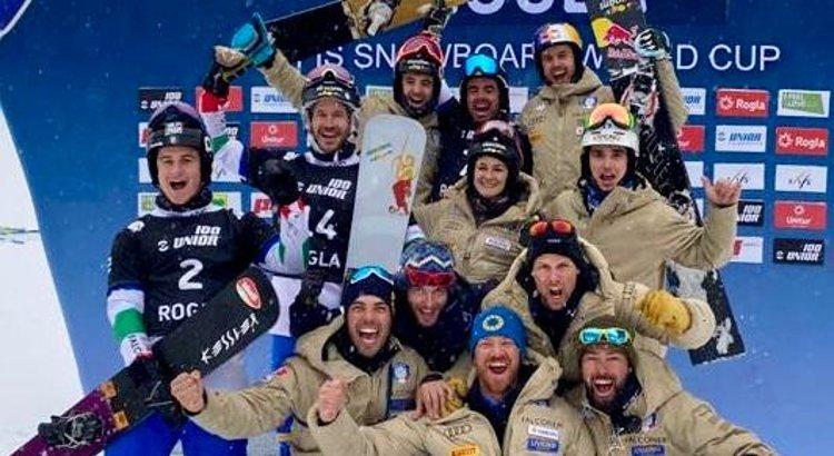 Team azzurro a Rogla (SVN)
