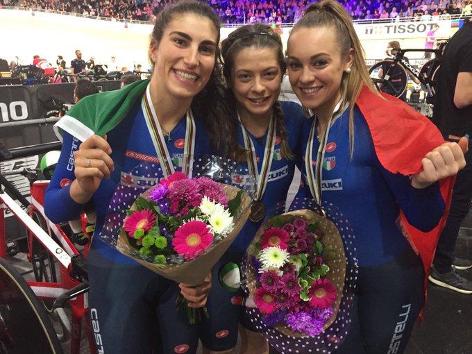 Mondiali ciclismo su pista, due bronzi per l'Italia