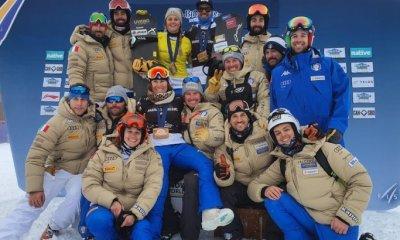 La squadra azzurra di snowboard
