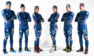 La squadra di sci di fondo azzurra