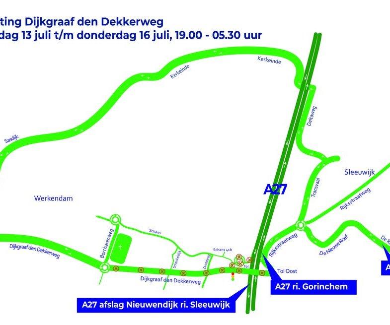 Afsluiting Dijkgraaf den Dekkerweg