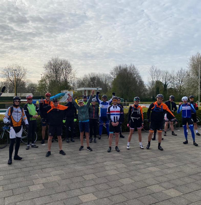Succesvolle teamBBZ fietstochten