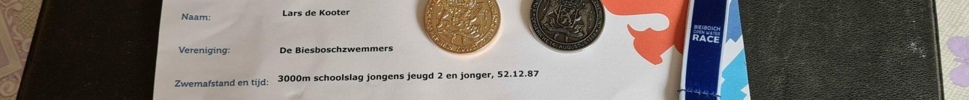 Zes NK-medailles voor trio Biesboschzwemmers