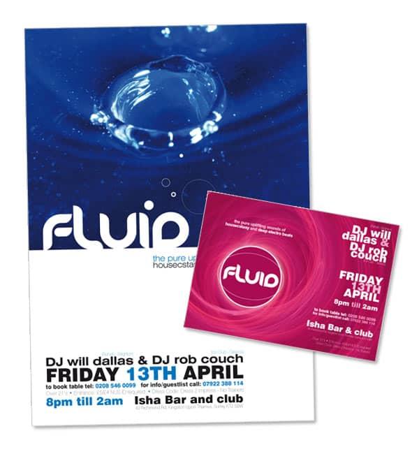 Fluid nightclub flyer