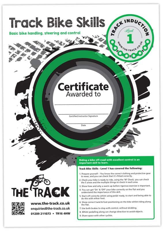 The Track - Bike Certificate