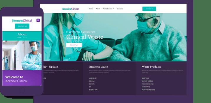 kernow clinical website mock up