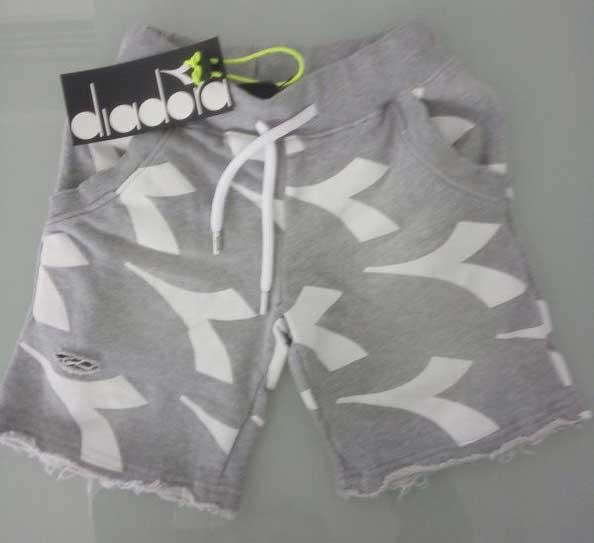 Shorts γκρι-λευκό 15098