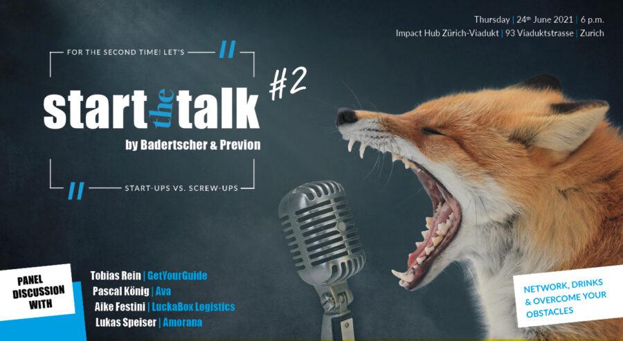 Flyer, start the talk, 22.10.2020