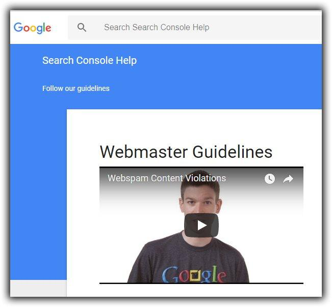 Google's Free Webmaster Guidelines
