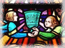 Glas in lood raam, kerkje Tréhorenteuc