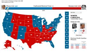 Actual Electoral College Results 2012