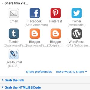 Flickr Sharing Options