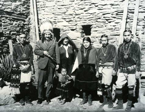 Albert Einstein with a group of Hopi Indians 1922
