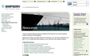 content marketing case - B2B - shipserv