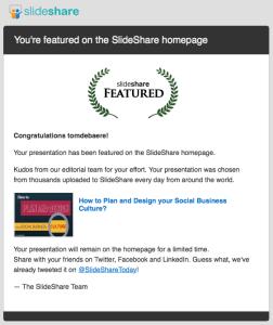 Slideshare featured presentation - best of the best practices Slideshare