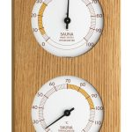 Analogue sauna thermometer hygrometer
