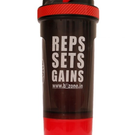 cfb6b9f34a B2zone 700ml Shakers Sippers Bottles with Storage Box for Gym (Pack of 1