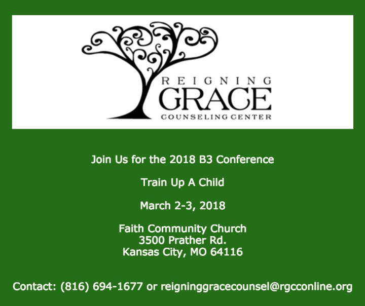 B3 2018: Train Up A Child