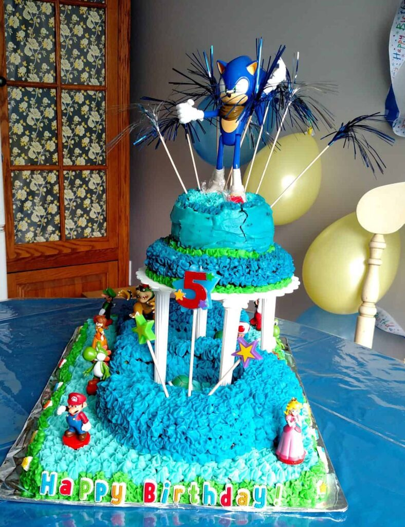 Sonic Mario Birthday Cake By Liberty At B4 And Afters Project Blog
