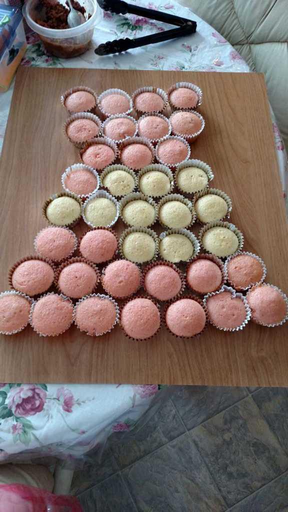 Easy Princess Dress Cupcake Birthday Cake B4 And Afters