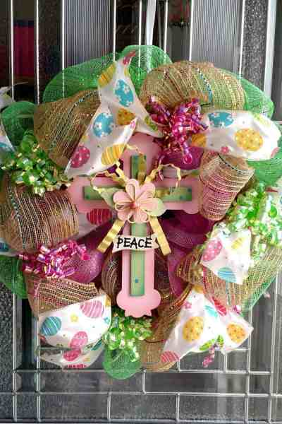 Easter Wreath Made With Dollar Tree Items