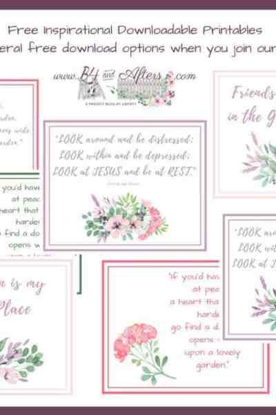 Inspirational Floral Printables