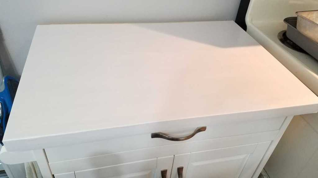 white contact paper on countertop