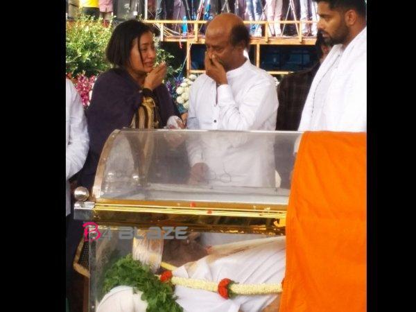 Rajinikanth with Ambareesh family