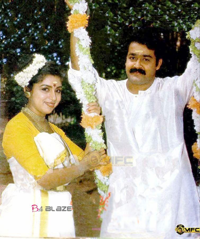 Revathi with Mohanlal