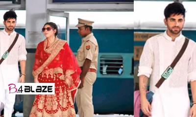 Ayushman Khurana was seen wearing a nose ring on the railway station platform of Varanasi