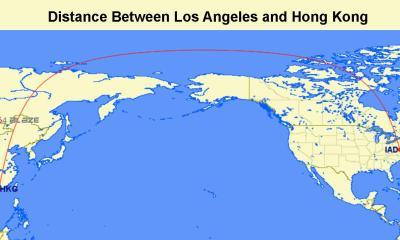 Distance-between-hongkong-and-LA