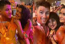 Priyanka Chopra-Nick Jonas celebrating holi at Nisha Ambani's House, Watch Photos
