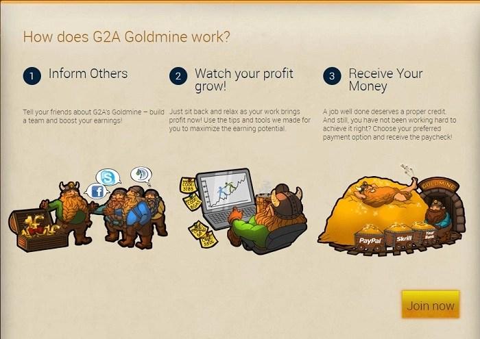 g2a goldmine affiliate program