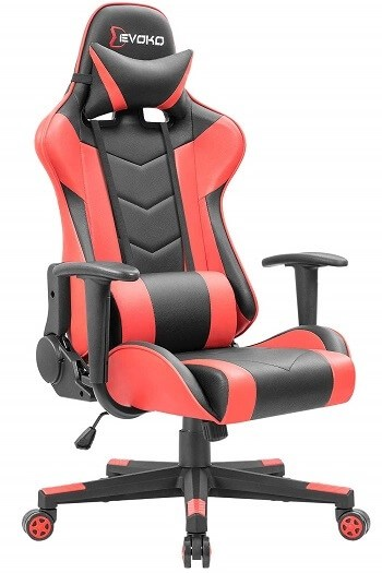 Devoko Ergonomic Gaming Chair Racing Style Adjustable Height High-Back PC Computer Chair buy now