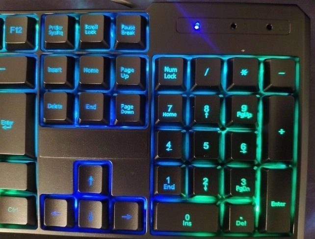 gamers keyboard good price with led light