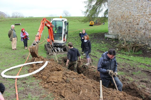 The dig at Borwick