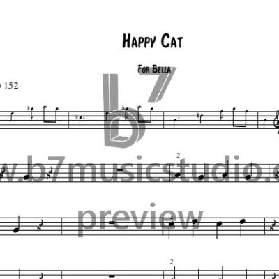 Happy Cat - Sheet Music Preview